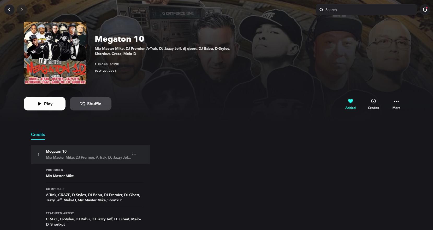 Megaton 10 by A-Trak, DJ Craze, D-Styles, DJ Babu, DJ Premier, DJ Qbert, DJ Jazzy Jeff, Melo-D, Mix Master Mike, Shortkut